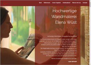 Grafikdesign und Webdesign für Elena Wüst - Umsetzung in WordPress