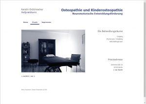 Webdesign und Grafikdesign für Kerstin Grützmacher, Ostheopathie