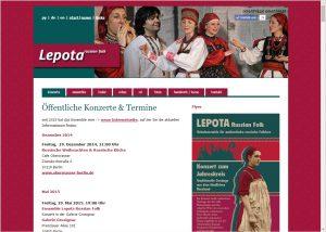 Webdesign und Grafikdesign für Ensemble Lepota