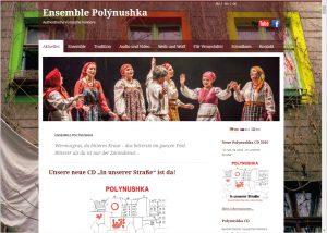 Webdesign und Grafikdesign für Ensemble Polynushka
