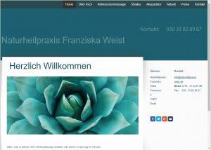 Beratung zum Webdesign und Grafikdesign die Naturheilpraxis Franziska Weist
